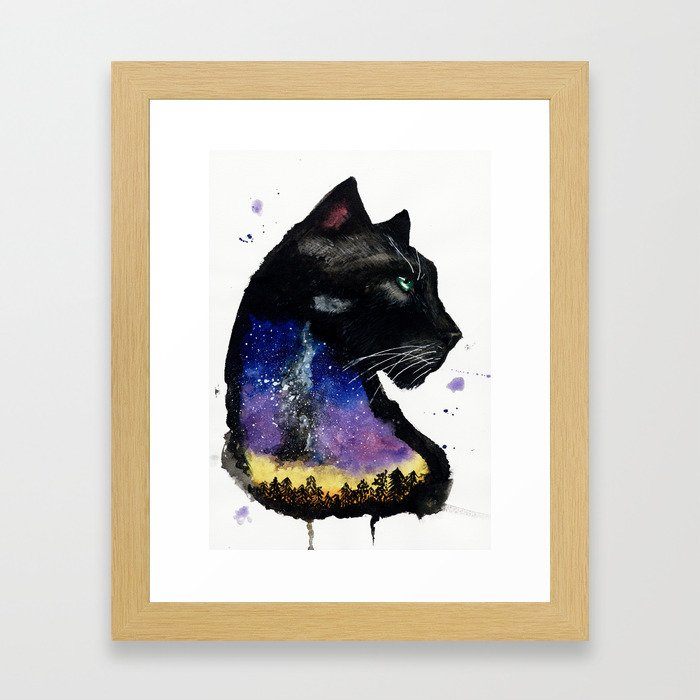 Galaxy Panther Framed Art Print