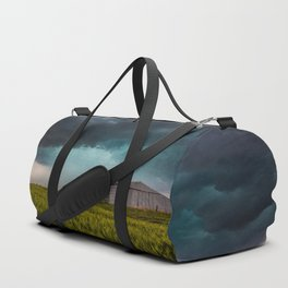 Rainy Day - Storm Passes Behind Barn in Southwest Oklahoma Duffle Bag