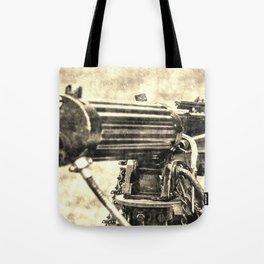 Vickers Machine Gun Vintage Tote Bag