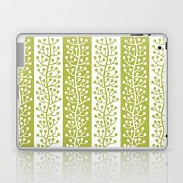 Mid Century Modern Berry Vine Stripes Chartreuse Laptop & iPad Skin