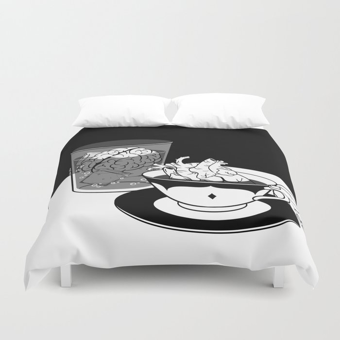 Cold Head, Warm Heart Duvet Cover By Hennkim