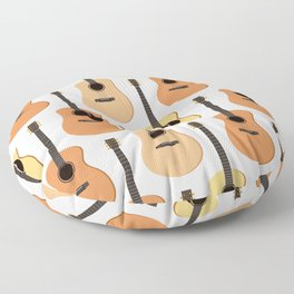 Acoustic Guitars Pattern Floor Pillow