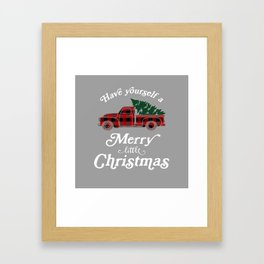 Have yourself a Merry little Christmas Vintage Truck Framed Art Print