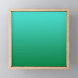Tropical Turquoise Teal Green Ombre Framed Mini Art Print