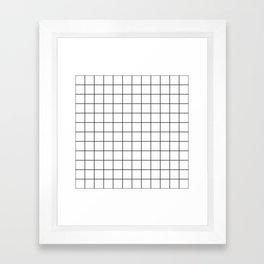 Grid Simple Line White Minimalistic Framed Art Print