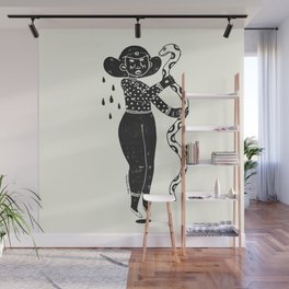 the girl and the snake Wall Mural