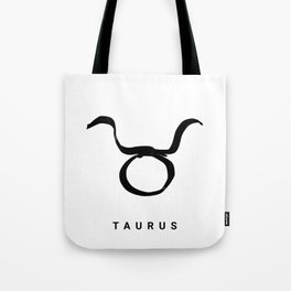 KIROVAIR ASTROLOGICAL SIGNS TAURUS #astrology #kirovair #symbol #minimalism #horoscope #stier #home Tote Bag