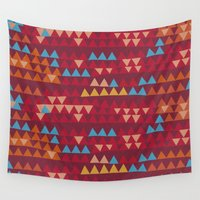 indian Wall Tapestries featuring indian by spinL