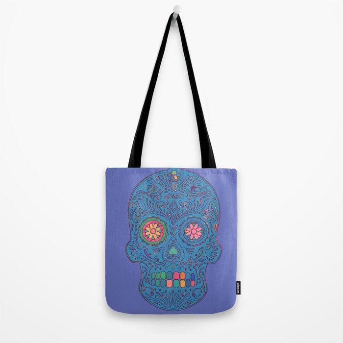 SKULL - BLUE Tote Bag