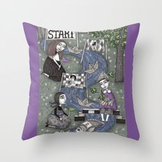 The Boat Race Throw Pillow