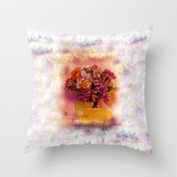 flora Throw Pillows featuring Flora  by Music of the Heart