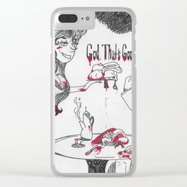 """God, That's Good"" Sweeney Todd Clear iPhone Case"