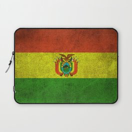 Old and Worn Distressed Vintage Flag of Bolivia Laptop Sleeve
