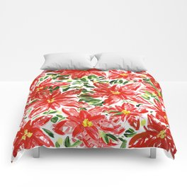 Pretty Poinsettias Comforters