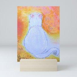 Galaxy Cat Mini Art Print