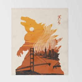 Godzilla  Throw Blanket