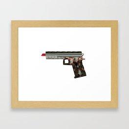 Big Lipstick Gun Framed Art Print