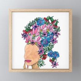 Exotic Beauty Framed Mini Art Print