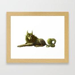 Cu Sith Framed Art Print