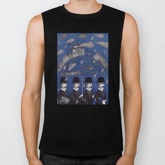 Four Men Waiting Biker Tank