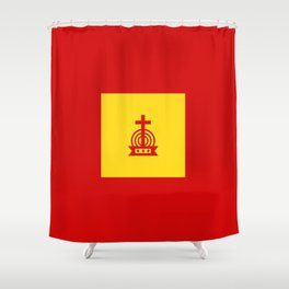 Henny Maestro - Gold on Red Shower Curtain
