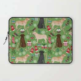 Labrador retrievers christmas festive holiday gifts for dog lover in your life dog breeds custom art Laptop Sleeve