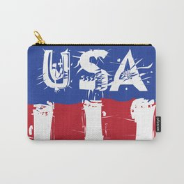 USA Rad White and Blu Carry-All Pouch