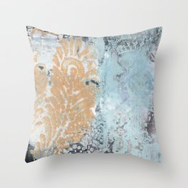 Feathers and Lace Throw Pillow