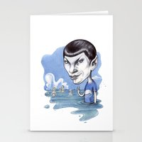spock Stationery Cards featuring spock by ElenaTerrin