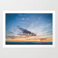 Sky Over Foss Art Print