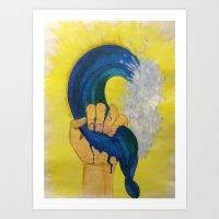 Grip on Life Art Print