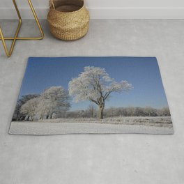 Winterly Landscape In Rural Northern Germany Rug