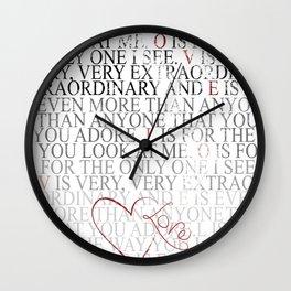 L.O.V.E... Nat King Cole... grunge version Wall Clock