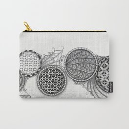 Cascading Patterned Circles Carry-All Pouch