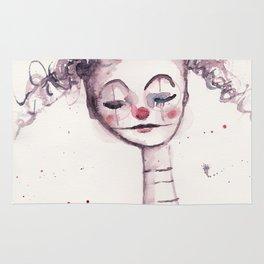 watercolor clown Rug