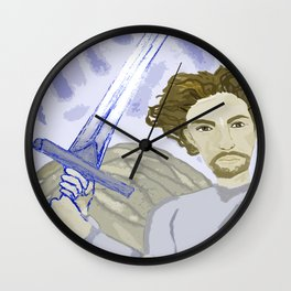 Clashing of Swords Wall Clock