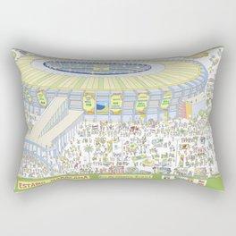 Maracana Soccer Arena, Rio de Janeiro, Brazil Rectangular Pillow