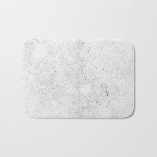 White Light Gray Concrete Bath Mat