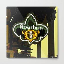 New Orleans Bourbon Street Bar Metal Print