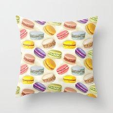 Macaroons pattern Throw Pillow