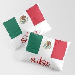 Mexico Flag - Salsa Pillow Sham