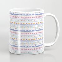 aztec Mugs featuring Aztec by Joanne Hawker