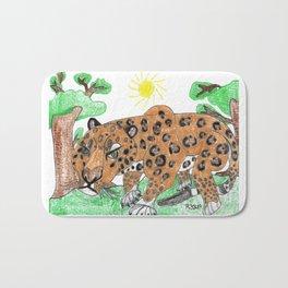 Indian Leopard Bath Mat