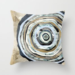 Wood Slice Abstract Throw Pillow