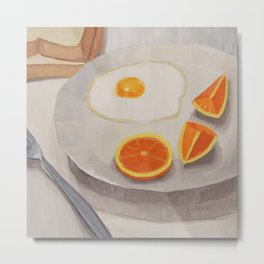 Breakfast Painting Metal Print