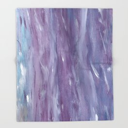 Touching Purple Blue Watercolor Abstract #1 #painting #decor #art #society6 Throw Blanket