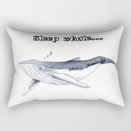 Sleep whale Rectangular Pillow