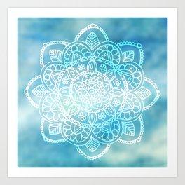 Blue Sky Mandala Art Print