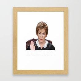 Judge Judy Baloney Framed Art Print