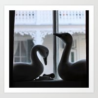 Swans at the Southern Quarters Art Print